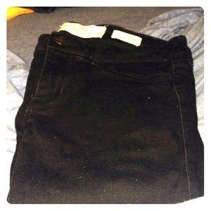 Black hollister jeans size 7R